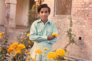 Arif as a young boy