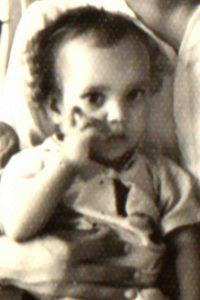 Arif as a baby